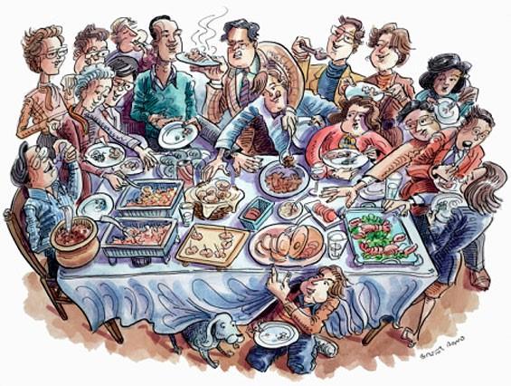 Поздравления, картинки прикольные про семью родню